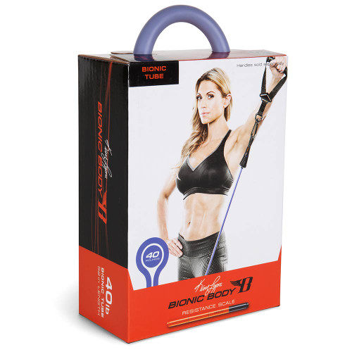Long lasting Bionic Body 40 lb. Resistance Band Inside of the package