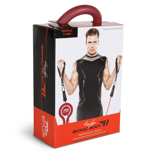 Long lasting Bionic Body 70 lb Resistance Band Inside of the package