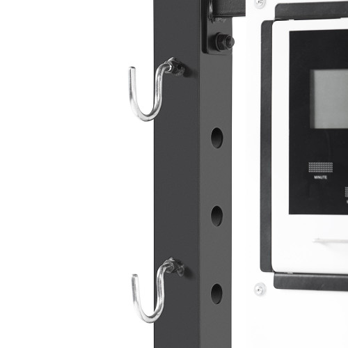 The Steelbody T-Rack STB-98001 includes hooks for convenient storage