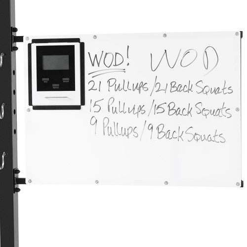 The Steelbody T-Rack STB-98001 includes a timer to easily track your workouts
