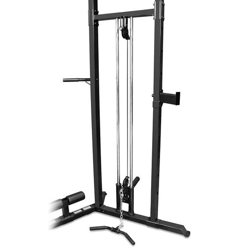 The Marcy Cage System SM-3551 includes a cable system for cable crossovers