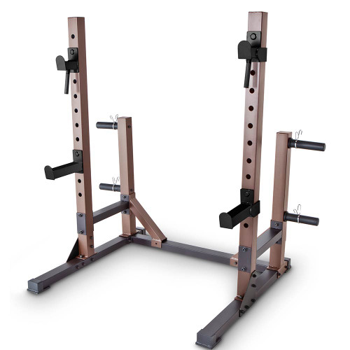The Squat Rack Base Trainer SteelBody STB-70105 has a sturdy and durable construction