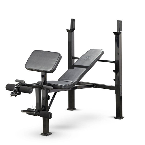 The Marcy Standard Bench | MWB-479 by Marcy adds variety to your workout with incline, decline, flat and Military positions