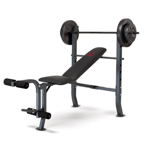The Marcy Weight Bench 80lb Weight Set MD-2080 by Marcy brings the whole gym home in one purchase