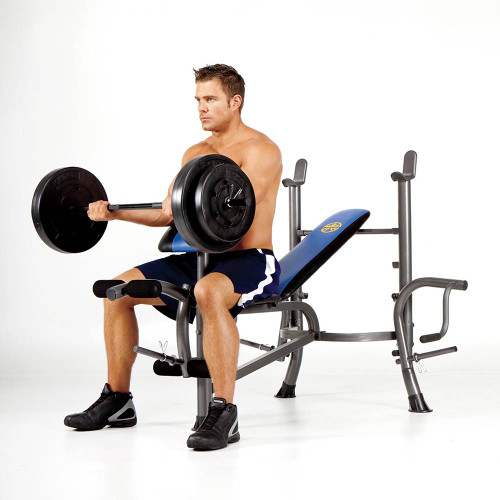Marcy Standard Bench 80 lb. Weight Set - Heavy Duty High ...