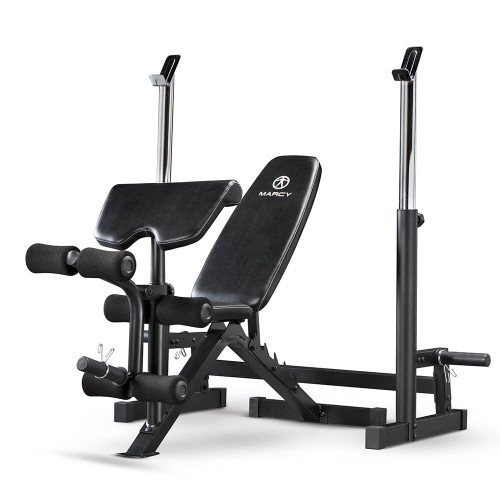 The Marcy Deluxe Olympic Bench | MWB-838 has a durable and long lasting construction