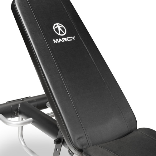 The Marcy Utility Bench SB-10900 has a comfortable back pad