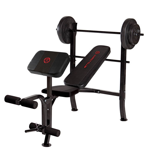 Standard Bench 80lbs Weight Set Quality Strength Products: weight set and bench