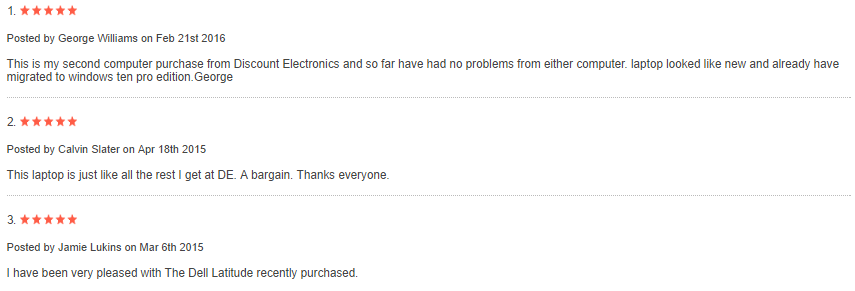 E6410 Customer reviews