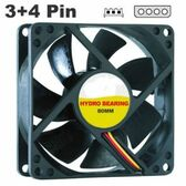 120MM PC Case Fan Quiet Silent System Cooling Black