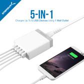50 Watt 5-Port USB Wall Charger