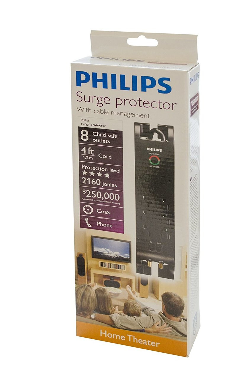 Philips 8 Outlet Surge Protector