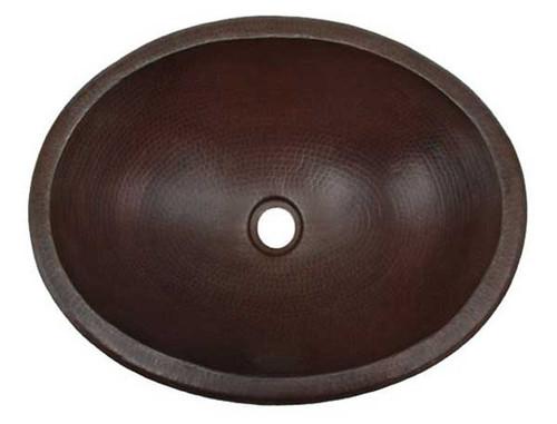 wide oval bathroom copper sink