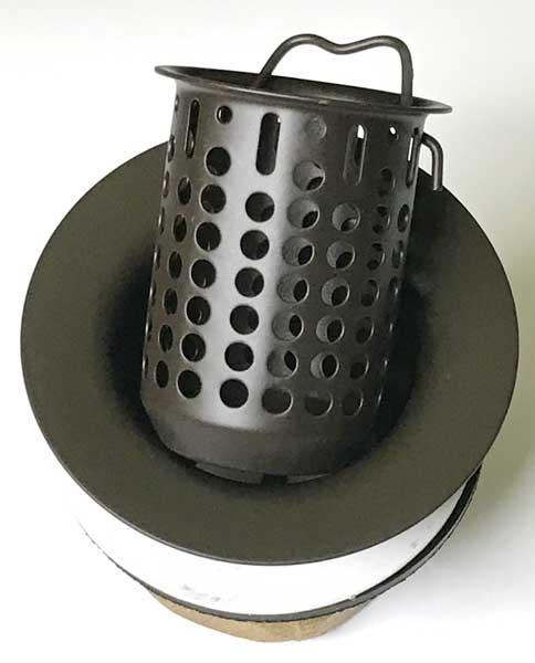 """(710) 2"""" Bar Strainer Basket for Copper Bar Sinks"""