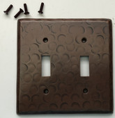 Sale Copper Switch Plate Cover (LSC401) 2 Gang Double Standard Toggle