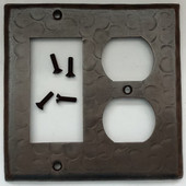 Sale Copper Switch Plate Cover (LSC220) 2 Gang Double Cover-Standard Plug + Decora Deco GFI Opening