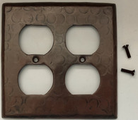 Sale Copper Switch Plate Cover (LSC200) 2 Gang Double Standard Outlet Plug Plate Cover
