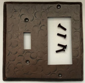 Sale Copper Switch Plate Cover (LSC420) 2 Gang Deco Decora GFI + Standard Toggle