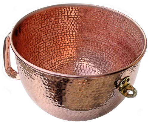 Replacement Copper Mixing Bowl in Solid copper for Kitchenaid Mixer
