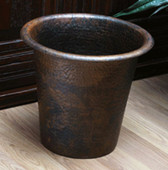 Hammered copper trash can