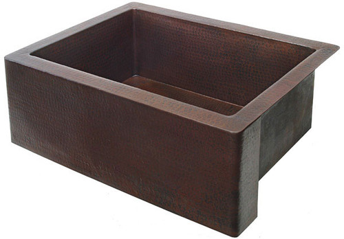 "FHA30-30"" Farmhouse copper kitchen sink-Single well"