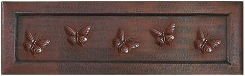 Butterfly Apron Front copper kitchen sink