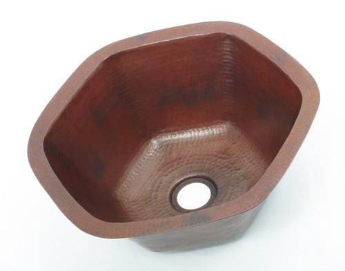 16 Quot Bar Prep Sink Hexagon Bowl Copper Sinks Direct