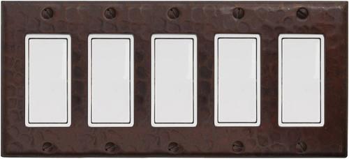 5 gang rocker decora copper plate cover