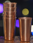 Hammered Mules (MINI134) Smooth Copper Mini Jigger Shot Glasses-Set of 6
