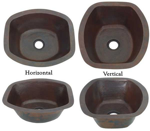 RRBV16-Rectangle Copper Bar Sink