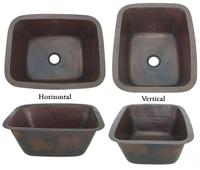 Hammered copper bar sink rectangle