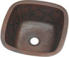 SBV15BQ square copper bar sink with baroque etched design