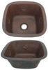 Square copper bar sink with gecko design