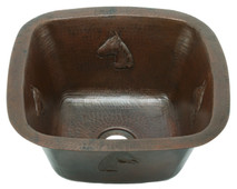 Square copper bar sink with horsehead design