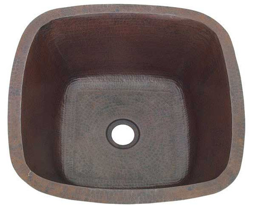 18 Quot Copper Square Bar Prep Sink Hammered Copper Sinks