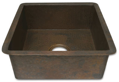 Square copper bar sink