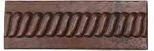 """TL002-2""""x 6"""" Rope Design copper tile liner"""
