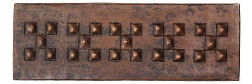 """TL003-2""""x 6"""" Check Design copper tile liner"""
