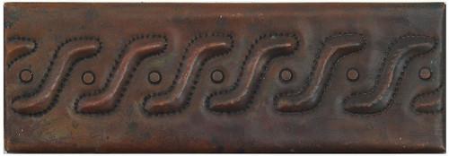 """TL004-2""""x 6"""" Swish Design copper tile liner"""