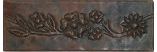Floral vine copper tile liner