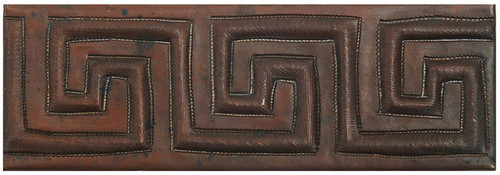 Greek Geometric copper tile liner