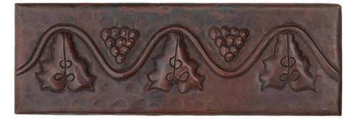 Grapevine copper tile liner