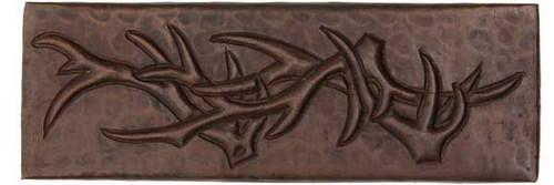 Deer Antler 2x6 accent tiles copper tile liner