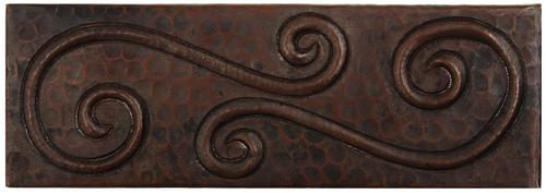 Swirl design copper tile liner