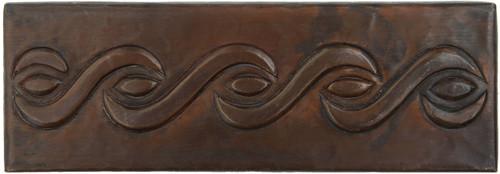 Rope design copper tile liner