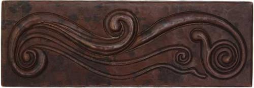 Western swirl copper tile liner
