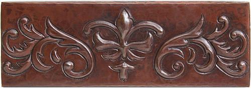 Fleur De Lis design copper tile liner