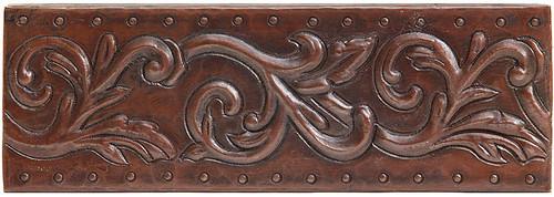 Vine scroll designer copper tile liner