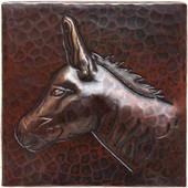 Donkey design copper tile