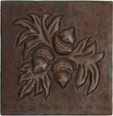 Hammered Copper Acorn Tile